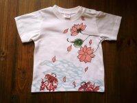 手描きT「金魚のお花見」