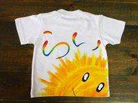 手描き半袖T「レインボーネームT」