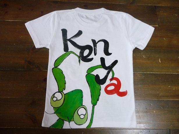 画像2: 手描き半袖T「カマキリTシャツ」
