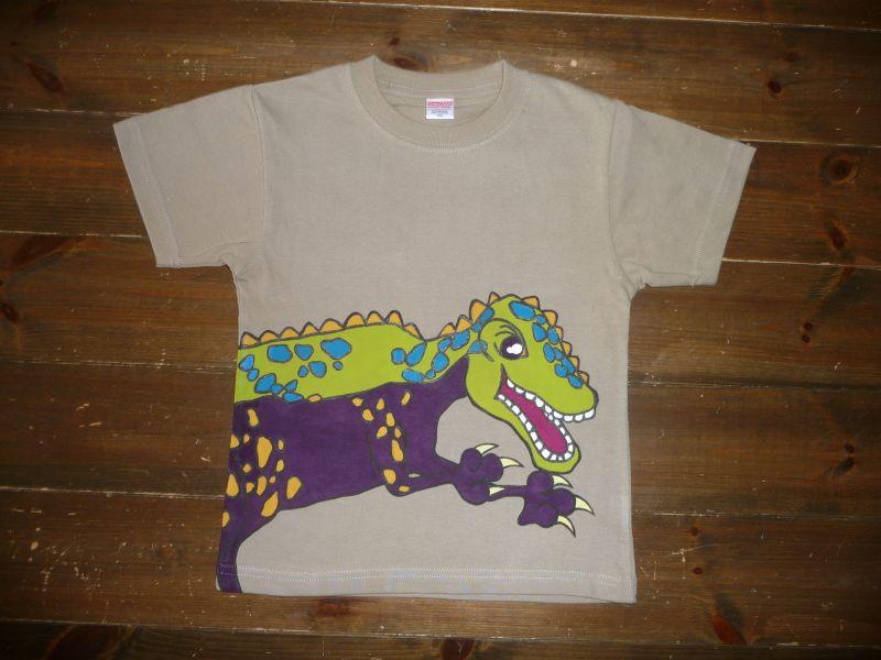 画像1: 手描き半袖T「恐竜Tシャツ」