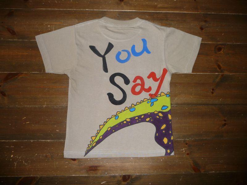 画像2: 手描き半袖T「恐竜Tシャツ」