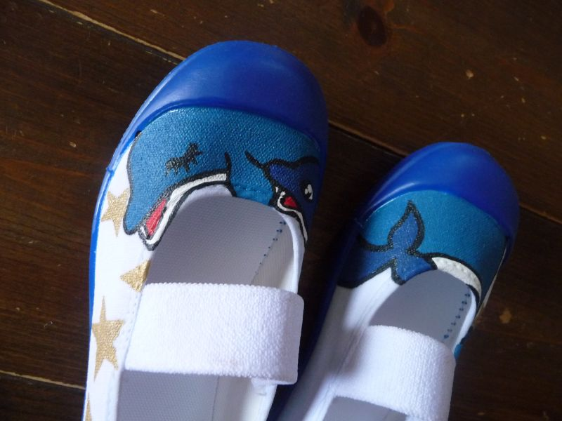画像5: スクール上履き「イルカの親子」