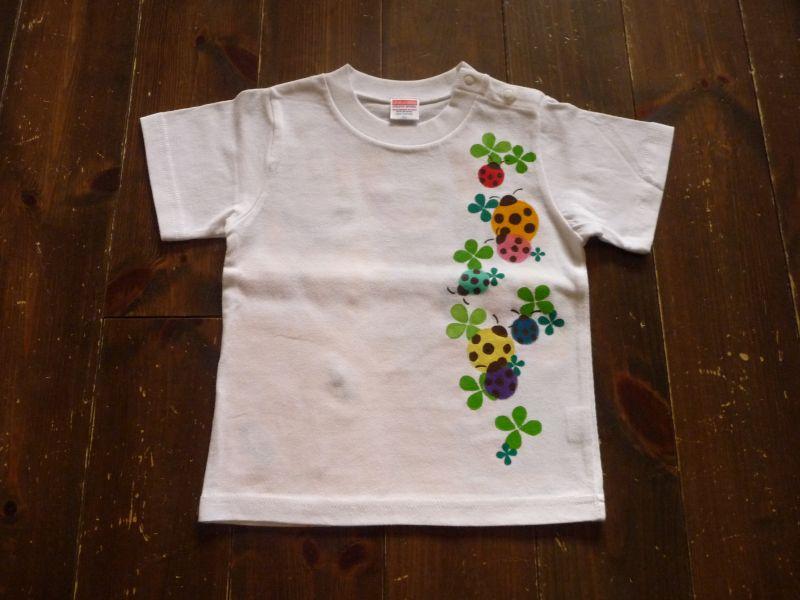 画像1: 手描きTシャツ「てんとうむし」KID'S