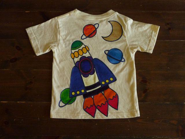 画像1: 手描き半袖T「ロケット」