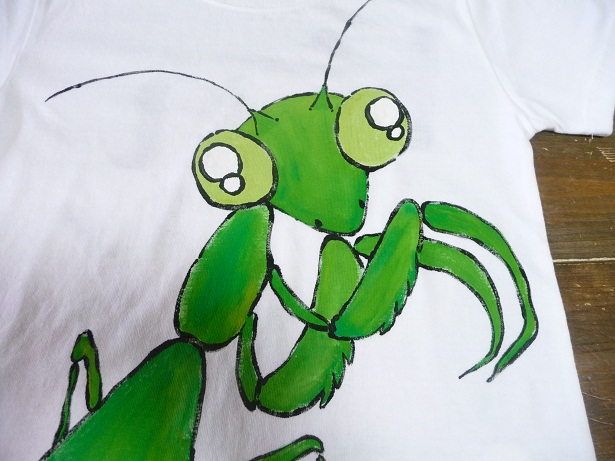 画像3: 手描き半袖T「カマキリTシャツ」